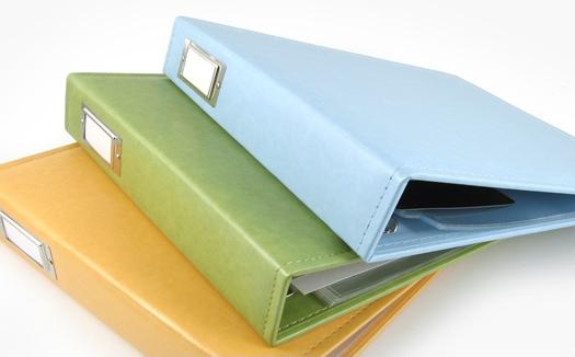 Materials to make a scrapbook album