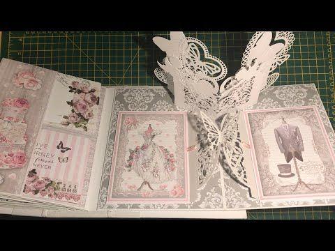 Tutorial to create a wedding scrapbook pop-up album
